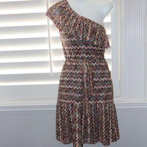Trina Turk One Shoulder Crochet Dress Size 0